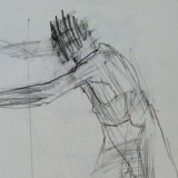 Leaning man